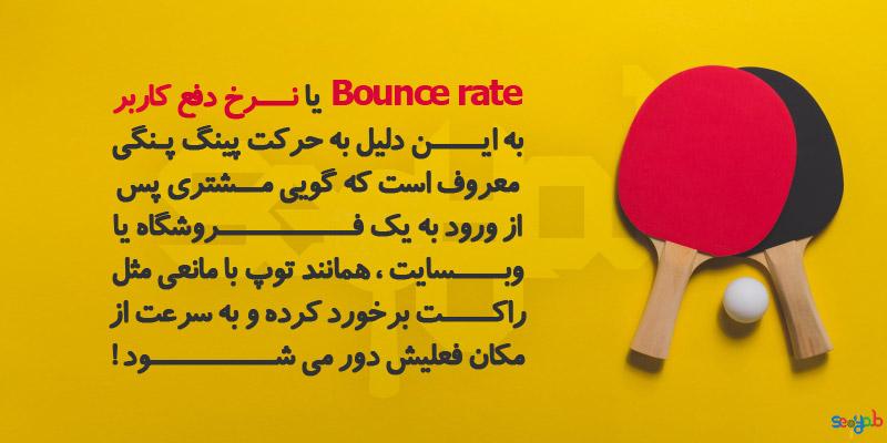 نرخ دفع کاربر یا Bounce rate